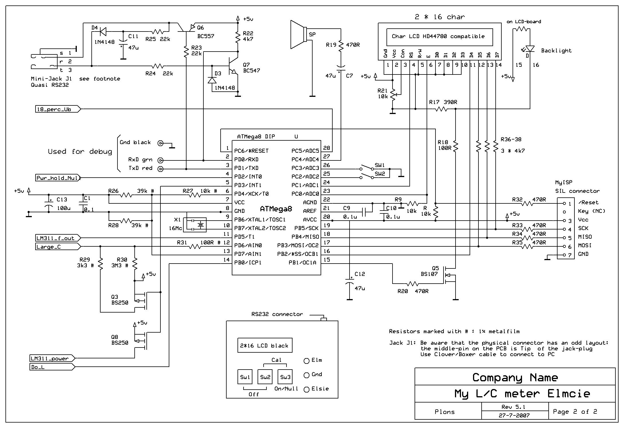 自制lcf手持测试仪