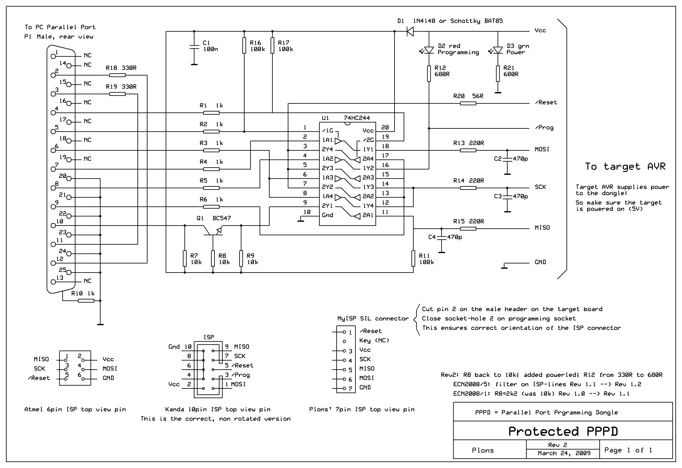 Простой внутрисхемный программатор LPC 15